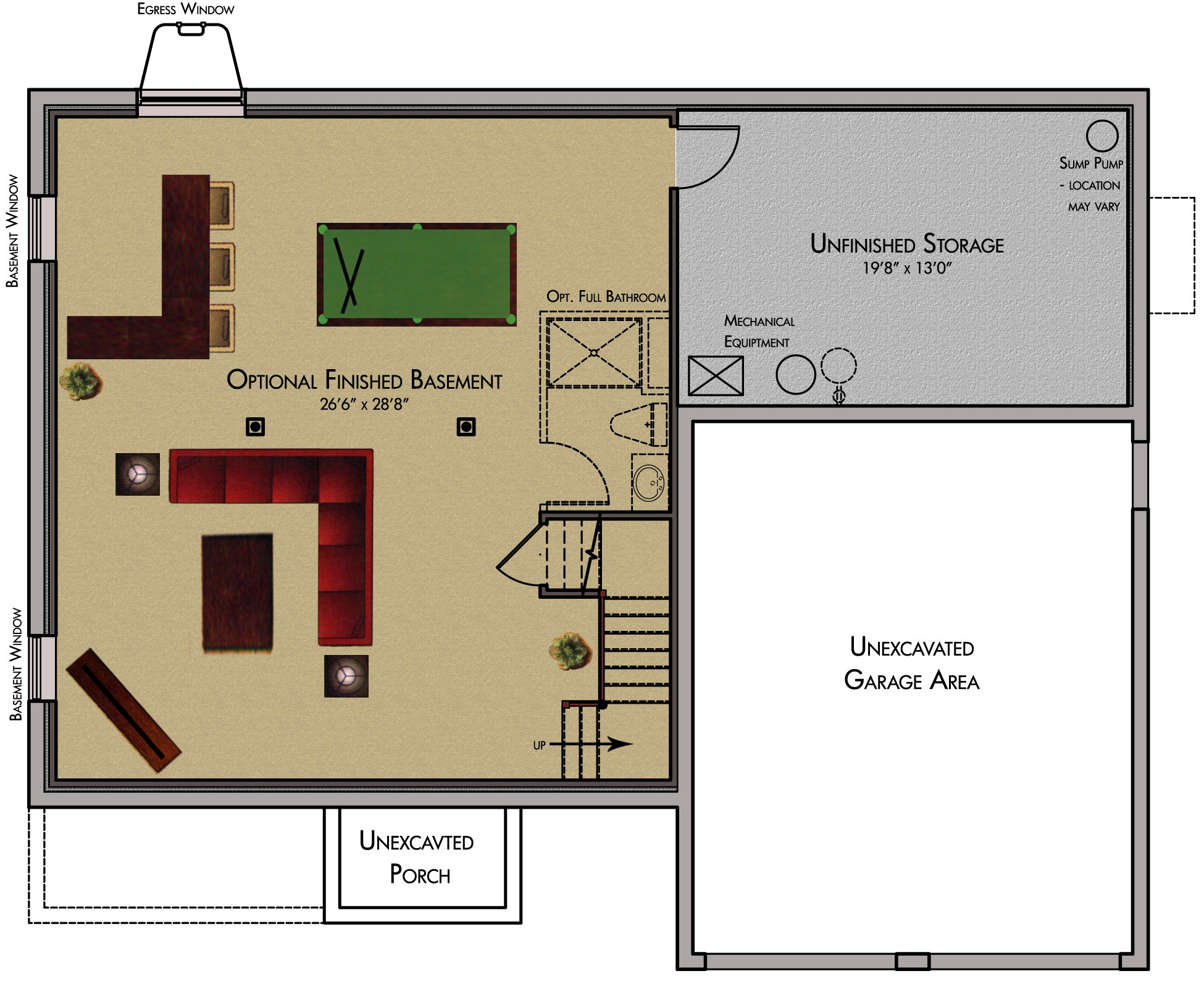 Stunning small basement floor plans 22 photos house for Free finished basement plans